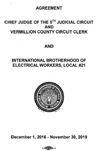 Agreement Chief Judge Of The 5th Judicial Circuit And Vermilion